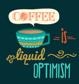 retro background with coffee quote and golden vector image