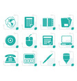 stylized business and office tools icons vector image