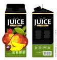 Template Packaging Design Mango Juice vector image