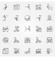 Car Painting icons set vector image