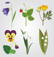 forest flowers vector image