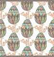happy easter pattern with decorated hand drawn vector image