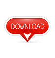red download web button vector image vector image