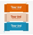 Menu or Headers Knitted Style vector image