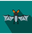Bat flat icon with shadow vector image