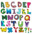 ABC Kids funny alphabet vector image