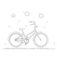bike coloring book black and white line drawing vector image