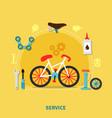 bike service concept vector image