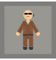 flat shading style icon male guard vector image