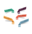Infographics or interface design elements vector image