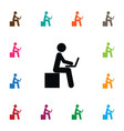 isolated developer icon learning element vector image