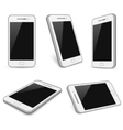 Realistic white smartphone cell phone vector image