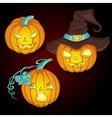 Set for Halloween Pumpkins vector image