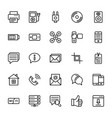 web and mobile ui line icons 16 vector image