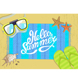 The summer bright composition of inscription vector image