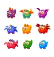 Toy Alien Monsters With And Without Wings vector image