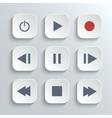 Media player control button ui icon set vector image