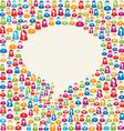 Social media user speech bubble vector image vector image