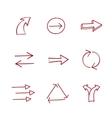 Hand-drawing arrows vector image