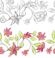 tulip and lily decorative borders vector image