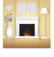 Classic interior with fireplace vector image vector image