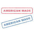 american made textile stamps vector image