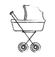 baby car small vector image