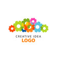 creative idea logo design template with colorful vector image