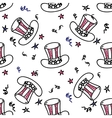 Holiday american hat seamless pattern vector image