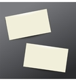 template white Business card vector image