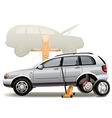 Tire repairs vector image