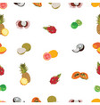 tropic exotic fruits white seamless pattern vector image