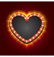 Valentines Heart Neon Lights Frame for Romantic vector image