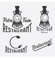 vintage set of retro train restaurant vector image