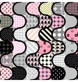 Pink patchwork pattern vector image