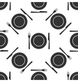 Platefork and knife icon seamless pattern on vector image
