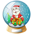 Santa Claus Crystal Ball vector image