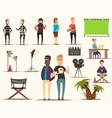 movie making elements set vector image
