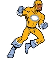 Black Superhero With Clenched Fists Fighting vector image vector image