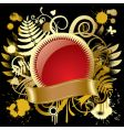 gold banner vector image vector image