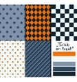 Set of 5 simple seamless geometric patterns vector image vector image