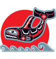 orca - killer whale - in native art style vector image vector image