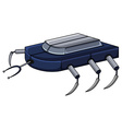 Robot with legs and antenna vector image