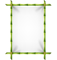 Cartoon of blank sign with bamboo frame vector image