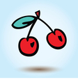cherries on a blue background vector image