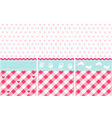 Girl pattern pink wallpaper set vector image