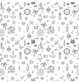 Hand drawn seamless pattern with nautical elements vector image
