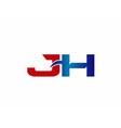 JH Logo Graphic Branding Letter Element vector image