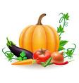 pumpkin 08 vector image