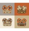 Retro reel to reel tape recorder icon vector image